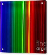 Macro Bromine Spectra Acrylic Print