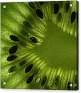 Macro Kiwi Slice Acrylic Print by Janeen Wassink Searles