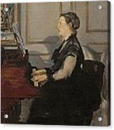 Madame Manet At The Piano Acrylic Print