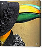Madame Toucan Of New Orleans Acrylic Print