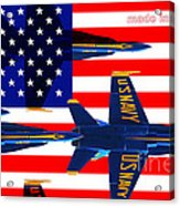 Made In The Usa . Blue Angels Acrylic Print