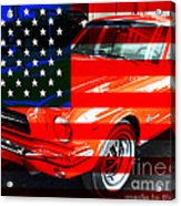 Made In The Usa . Ford Mustang Acrylic Print