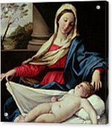 Madonna And Child  Acrylic Print by II Sassoferrato