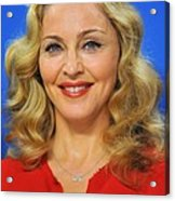 Madonna At The Press Conference Acrylic Print