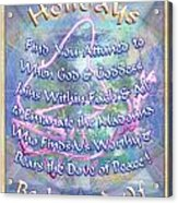 Madonna Dove And Chalice Vortex Over The World Holiday Art I With Text Acrylic Print