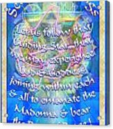 Madonna Dove Chalice-synthesis And Logos With Text Acrylic Print