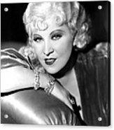 Mae West, Portrait Acrylic Print by Everett