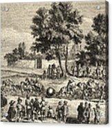 Magdeburg Hemispheres, 17th Century Acrylic Print