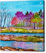 Magenta Woods Acrylic Print