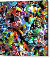 Magic  Colors  Sculpture  Nineteen  Ninety  Nine Acrylic Print by Carl Deaville