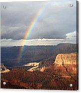 Magical Rainbow In The Grand Canyon Acrylic Print
