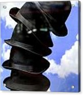 Magritte Hat Stand Acrylic Print