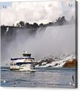 Maid Of The Mist At Niagara Falls Acrylic Print by Mark J Seefeldt