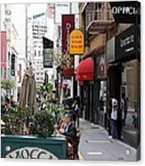Maiden Lane San Francisco California - 5d19376 Acrylic Print by Wingsdomain Art and Photography