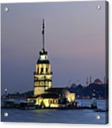 Maiden's Tower  At Sunset Acrylic Print