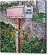 Mailbox Sketchbook Project Down My Street Acrylic Print by Irina Sztukowski
