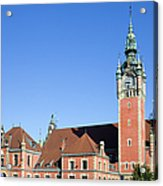 Main Railway Station In Gdansk Acrylic Print