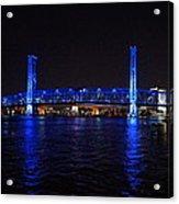Main Street Bridge At Night Acrylic Print
