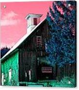 Maine Barn Acrylic Print by Marie Jamieson