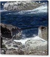 Maine Coast Surf Acrylic Print by Darleen Stry