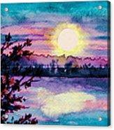 Maine October Sunset Acrylic Print