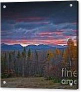 Moosehead Sunset Acrylic Print