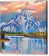 Majestic Blue Mountain Reflections Acrylic Print