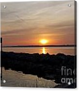 Majestic Sunset At The Point Acrylic Print