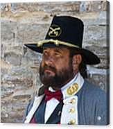 Major General Lunsford L.lomax Portrayed By Dan L. Carr 150th Anniversary Of The American Civil War  Acrylic Print