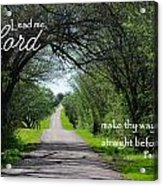 Make Thy Way Straight Ps 5 Acrylic Print