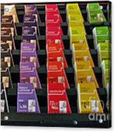 Make Your Choice. All Colors All Tastes. Acrylic Print