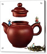 Making Green Tea On A Clay Teapot Acrylic Print by Paul Ge