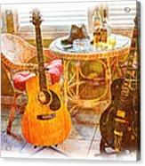 Making Music 005 Acrylic Print by Barry Jones