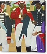 Making Of The Haitian Flag Acrylic Print by Nicole Jean-Louis
