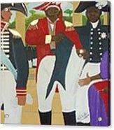 Making Of The Haitian Flag Acrylic Print