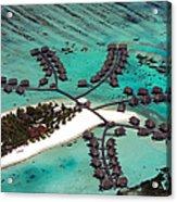 Maldives Aerial Acrylic Print