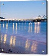Malibu Pier Reflections Acrylic Print