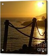 Malibu Sunset Acrylic Print by Micah May