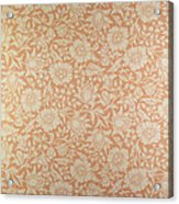 Mallow Wallpaper Design Acrylic Print by William Morris