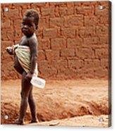 Malnourished Child Acrylic Print