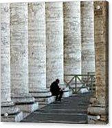 Man And Columns Acrylic Print