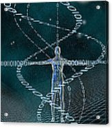 Man And Cyberspace Acrylic Print by Carol and Mike Werner