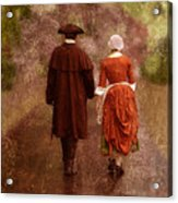Man And Woman In 18th Century Clothing Walking Acrylic Print
