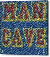 Man Cave Bottle Cap Mosaic Acrylic Print by Paul Van Scott