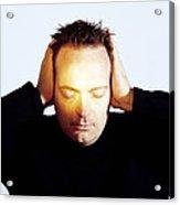 Man Covering His Ears Acrylic Print