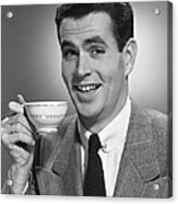 Man Drinking Coffee Acrylic Print