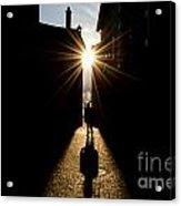 Man In Backlight Acrylic Print