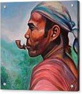 Man In The Hills Of Chiang Rai Acrylic Print