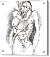 Man In Woman Acrylic Print