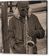 Man Playing His Saxophone Acrylic Print